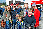 Fiona, James, Dylan and Luke Walsh with Dominic, David and Yvonne Hunt, Moyvane, Listowel, pictured at Listowel races on Sunday last.
