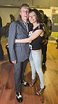 © Joel Goodman - 07973 332324 . 12/04/2015 . Manchester , UK . Bez and his partner Firouzeh Razavi backstage after the show . Black Grape perform a reunion gig in support of Bez's Reality Party . Photo credit : Joel Goodman