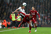 17th March 2019, Craven Cottage, London, England; EPL Premier League football, Fulham versus Liverpool; Joe Bryan of Fulham fouls Georginio Wijnaldum of Liverpool