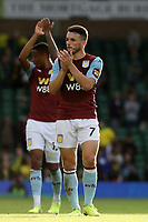 John McGinn of Aston Villa applauds the traveling Villa fans at the end of the game during Norwich City vs Aston Villa, Premier League Football at Carrow Road on 5th October 2019