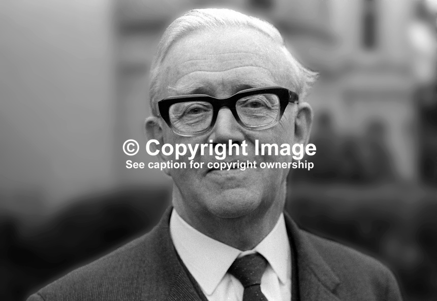 Dr Stuart Hawnt, pro-chancellor, New University of Ulster, N Ireland, December 1971, 197112000543a<br />