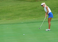 NWA Democrat-Gazette/MICHAEL WOODS &bull; @NWAMICHAELW<br /> Har-ber golfer Joanna Keck attempts a putt Tuesday August 4, 2015 during the golf tournament at the Springdale Country club.