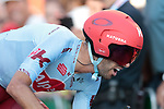 Daniel Navarro Garcia (ESP) Team Katusha Alpecin in action during Stage 1 of La Vuelta 2019, a team time trial running 13.4km from Salinas de Torrevieja to Torrevieja, Spain. 24th August 2019.<br /> Picture: Colin Flockton | Cyclefile<br /> <br /> All photos usage must carry mandatory copyright credit (© Cyclefile | Colin Flockton)