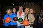 Sonia Satra, Jennifer Roszell, Tina Sloan pose with Jerry ver Dorn and One Life To Live cohosts with Liz Keifer at the 9th Annual Daytime Stars & Strikes Charity Event to benefit The American Cancer Society on October 7, 2012 at Bowlmor Lanes Times Square, New York City, New York.  (Photo by Sue Coflin/Max Photos)
