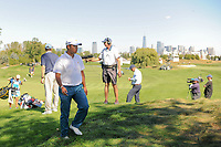 Hideki Matsuyama (JPN) makes his way to the 6th tee during round 1 foursomes of the 2017 President's Cup, Liberty National Golf Club, Jersey City, New Jersey, USA. 9/28/2017.<br /> Picture: Golffile   Ken Murray<br /> ll photo usage must carry mandatory copyright credit (&copy; Golffile   Ken Murray)