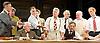 Twelve Angry Men <br /> by Reginald Rose<br /> at The Garrick Theatre, London, Great Britain <br /> press photocall <br /> 8th November 2013 <br /> <br /> Martin Shaw Juror 8 <br /> <br /> Juror 3<br /> Jeff Fahey<br /> <br /> Juror 7<br /> Nick Moran<br /> <br /> Juror 9<br /> and Robert Vaughn<br /> <br /> Foreman Luke Shaw<br /> <br /> Juror 2<br /> David Calvitto<br /> <br /> Juror 4 Paul Antony-Barber<br /> <br /> Juror 5 Ed Franklin<br /> <br /> Juror 6  Robert Blythe<br /> <br /> Juror 10 Miles Richardson<br /> <br /> Juror 11 Martin Turner<br /> <br /> Juror 12 Owen O'Neill<br /> <br /> Guard Jason Riddington<br /> <br /> Photograph by Elliott Franks