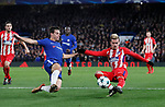 Antoine Griezmann of Atletico Madrid shoots on goal during the Champions League Group C match at the Stamford Bridge, London. Picture date: December 5th 2017. Picture credit should read: David Klein/Sportimage