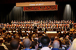 Terryville, CT- 21 June  2017-062117CM13-  The 2017 Terryville High School graduates are shown on stage during commencement exercises on Wednesday.  Christopher Massa Republican-American