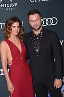 "LOS ANGELES, USA. April 22, 2019: Cobie Smulders & Taran Killam at the world premiere of Marvel Studios' ""Avengers: Endgame"".<br /> Picture: Paul Smith/Featureflash"