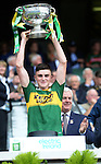 Minor captain Sean O'Shea celebrates on winning the All-Ireland Minor final at Croke on Sunday.<br /> Photo: Don MacMonagle