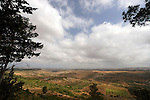 Israel, the Lower Galilee. The view north of Achihood forest scenic road