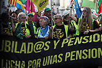 Pensioners are seen protesting during the march of pensioners at Puerta del Sol on October 15, 2019 in Madrid, Spain.(ALTERPHOTOS/ItahisaHernandez)