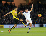 Watford's Troy Deeney tussles with Leicester City's Danny Drinkwater<br /> <br /> - English Premier League - Watford vs Leicester City  - Vicarage Road - London - England - 5th March 2016 - Pic David Klein/Sportimage