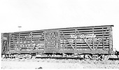 Side view of D&amp;RGW stock car #5963 at Antonito.<br /> D&amp;RGW  Antonito, CO  Taken by Maxwell, John W. - 7/2/1941