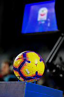 A ball inf ront of the VAR ( Video assistant referee ) monitor ahead the Serie A 2018/2019 football match between Frosinone and Lazio at stadio Benito Stirpe, Frosinone, February 4, 2019 <br />  Foto Andrea Staccioli / Insidefoto