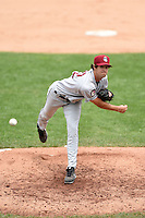 Mahoning Valley Scrappers pitcher Jordan Carter (22) delivers a pitch during a game against the Jamestown Jammers on June 16, 2014 at Russell Diethrick Park in Jamestown, New York.  Mahoning Valley defeated Jamestown 2-1.  (Mike Janes/Four Seam Images)