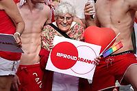 Nederland - Utrecht - 2018.  Let op : Foto heeft klein formaat.  Voor het tweede jaar vaart de Utrecht Canal Pride door de binnenstad. Proud Granny.    Foto mag niet in negatieve / schadelijke context gepubliceerd worden.   Foto Berlinda van Dam / Hollandse Hoogte.