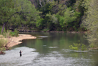 NWA Democrat-Gazette/FLIP PUTTHOFF <br /> The War Eagle River      May 1 2018     is a scenic stream to wet a line.