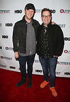 "WEST HOLLYWOOD, CA July 11- Cory Krueckeberg, Tom Gustafson,  At 2017 Outfest Los Angeles LGBT Film Festival Screening of ""Hello Again"" at The DGA Theater, California on July 11, 2017. Credit: Faye Sadou/MediaPunch"