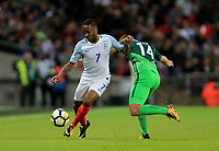 England Raheem Sterling  wins the ball during the FIFA World Cup 2018 Qualifying Group F match between England and Slovenia at Wembley Stadium on October 5th 2017 in London, England. <br /> Calcio Inghilterra - Slovenia Qualificazioni Mondiali <br /> Foto Phcimages/Panoramic/insidefoto