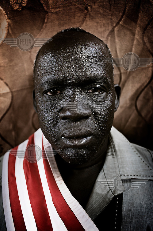 Kuajok, Warrap state, South Sudan. March 2011..Peace talks between clan chiefs of the Dinka and Nuer people, the two largest ethnic groups in South Sudan.