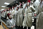 Ultra Orthodox Jews celebrate Purim, in Jerusalem, March 23, 2008. The feast of Purim commemorates the salvation of the Jews from the ancient Persians as described in the book of Esther, celebrations involve participants dressing up in disguises and enjoying otherwise forbidden revelry.