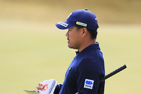 Yusaku Miyazato (JPN) at the 13th green during Thursday's Round 1 of the 2018 Dubai Duty Free Irish Open, held at Ballyliffin Golf Club, Ireland. 5th July 2018.<br /> Picture: Eoin Clarke | Golffile<br /> <br /> <br /> All photos usage must carry mandatory copyright credit (&copy; Golffile | Eoin Clarke)