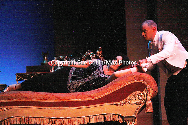 """Roy Brown with One Life To Live and Guiding Light Kim Zimmer stars as """"Norma Desmond"""" in Sunset Boulevard for several weeks in August at the Barn Theatre in Augusta, Michigan. The photos are from the dress rehearsal. (Photo by Sue Coflin/Max Photos)"""