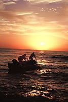 Fishermen in Quriyat, Oman.