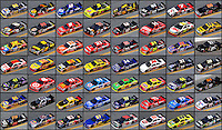 composite image of the cars who attempted to qualify for the NASCAR Sprint Cup Series 2009 Daytona 500..By Mark J Rebilas