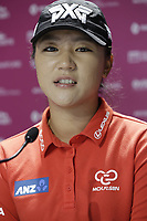 Lydia Ko (NZL) press conference during Wednesday's Pro-Am Day of The Evian Championship 2017, the final Major of the ladies season, held at Evian Resort Golf Club, Evian-les-Bains, France. 13th September 2017.<br /> Picture: Eoin Clarke | Golffile<br /> <br /> <br /> All photos usage must carry mandatory copyright credit (&copy; Golffile | Eoin Clarke)