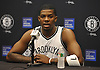 Brooklyn Nets No. 7 Joe Johnson fields questions during Media Day held at the team's practice center in East Rutherford, New Jersey on Monday, September 28, 2015.<br /> <br /> James Escher