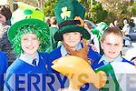 Paddy Hannafin, Sean Nolan and Chris Kerley enjoying the Castleisland parade on Tuesday
