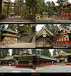Nikko Lower Level Ishidorii Stone Torii Gate Kyozo Sutra Storehouse Koro Drum Tower Kamijinko Storehouse Kitouden Prayer Hall Kaguraden Dance Stage Tozai Kairo Roofed Colonnade Shinyosha Mikoshi Shed Nikko Toshogu Shrine Nikko Japan