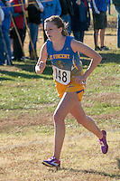 St. Vincent sophomore Corin Carroll runs to a 10th-place finish and All-State honors in the Class 1 5k race at the 2015 MSHSAA State Cross Country Championships.