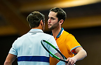 Alphen aan den Rijn, Netherlands, December 14, 2018, Tennispark Nieuwe Sloot, Ned. Loterij NK Tennis,  Men's doubles: Tim van Terheijden and Jesse Timmermans (R) (NED)<br /> Photo: Tennisimages/Henk Koster