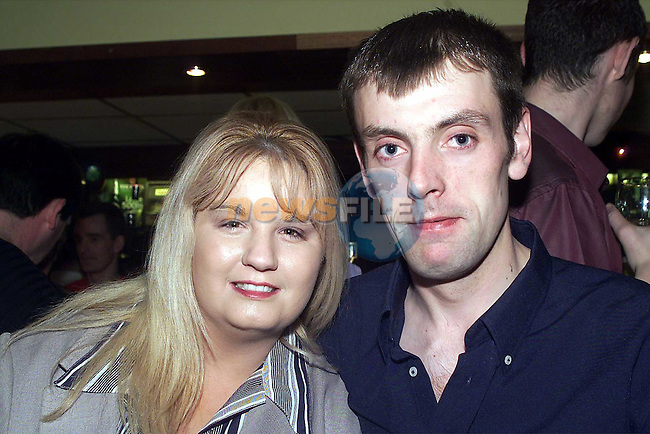 Clodagh Carroll and David Carney, Duleek, enjoying the fundraising night for the Share a Dream Foudation in O'Neills in Duleek..Picture: Arthur Carron/Newsfile