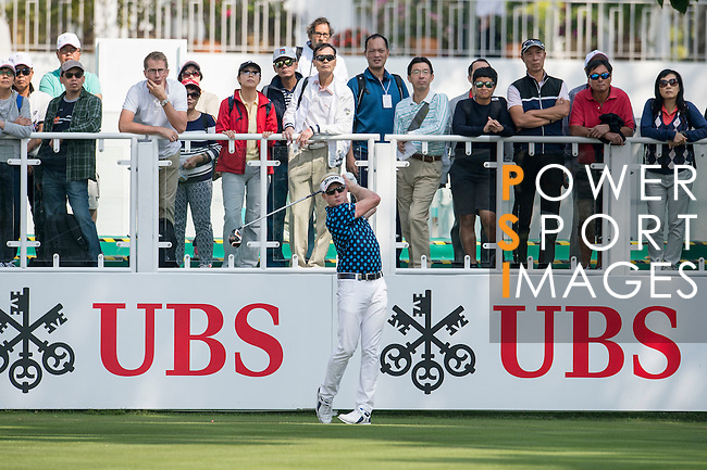 Simon Dyson of England tees off the first hole during the 58th UBS Hong Kong Golf Open as part of the European Tour on 08 December 2016, at the Hong Kong Golf Club, Fanling, Hong Kong, China. Photo by Marcio Rodrigo Machado / Power Sport Images