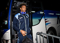 Goalkeeper Jamal Blackman (on loan from Chelsea) of Wycombe Wanderers arrives during the Checkatrade Trophy round two Southern Section match between Millwall and Wycombe Wanderers at The Den, London, England on the 7th December 2016. Photo by Liam McAvoy.