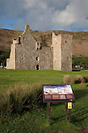 Lochranza Castle in the Isle of Arran, Scotland