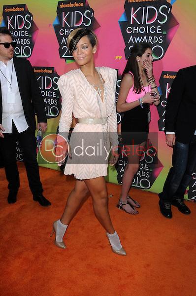 Rihanna<br /> at the Nickelodeon's 23rd Annual Kids' Choice Awards, UCLA's Pauley Pavilion, Westwood, CA 03-27-10<br /> David Edwards/DailyCeleb.com 818-249-4998