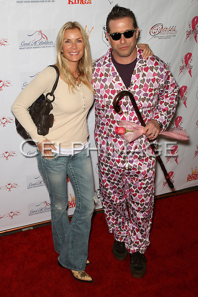 KATHERINE KELLY LANG, STEPHEN BALDWIN.  Decked out in pajamas, celebrities arrive to Bowling After Dark, an event to benefit the Carol M. Baldwin Breast Cancer Research Fund, at Pinz Bowling Center in Studio City, CA, USA. February 13, 2010.