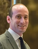 Stephen Miller, Senior policy advisor to President-elect Trump, is seen the lobby of Trump Tower in New York, NY, USA on January, 9, 2017. <br /> Credit: Albin Lohr-Jones / Pool via CNP