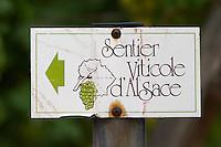 walking path sign kientzheim alsace france