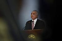 BRASÍLIA, DF, 27.06.2017 - TEMER-DF - O presidente Michel Temer durante pronunciamento na tarde desta terça-feira, 27, no Palácio do Planalto. (Foto: Ricardo Botelho/Brazil Photo Press)