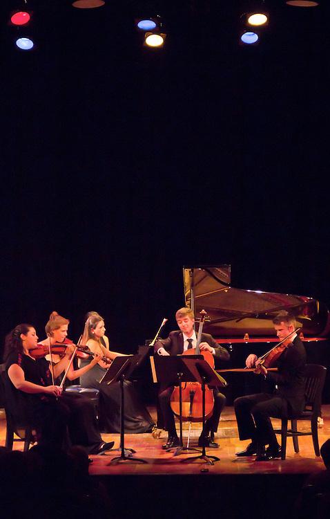 Centrum, Chamber Music Workshop, Fort Worden, June 16-21 2015, Azalea Quartet, Alin Melik-Adamyan, piano, Wheeler Theater, Port Townsend, Washington State, Pacific Northwest,