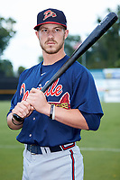 Danville Braves infielder Cody Milligan (7) poses for a photo prior to the game against the Pulaski Yankees at Calfee Park on June 30, 2019 in Pulaski, Virginia. The Braves defeated the Yankees 8-5 in 10 innings.  (Brian Westerholt/Four Seam Images)