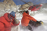 Skiing with Ruby Mountain Heliski operation out of Lamoille