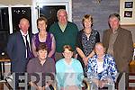 Enjoying the Milltown Pioneers 85th Anniversary celebrations in Killorglin Golf club on Friday night was l-r: Joan Clifford, Phil McCarthy, Mary Prendergast. Back row: John, Noreen McKenna, Brian Kelly, Ester Leahy and Dan Prendergast