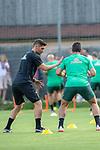 04.07.2019, Parkstadion, Zell am Ziller, AUT, TL Werder Bremen - Tag 00<br /> <br /> im Bild / picture shows 1. Training im TL Zillertal am Mittwoch abend<br /> <br /> Marcel Abanoz (Athletik-Trainer / Reha-Trainer Werder Bremen)<br /> Claudio Pizarro (Werder Bremen #14)<br /> Foto © nordphoto / Kokenge